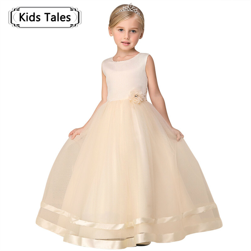 Baby Flower Girl Dress Kids Party Children's Clothing Teenage Girls Wedding Dresses Tulle Prom Formal Party Dress SQ343 15 color infant girl dress baby girl pageant dress girl party dresses flower girl dresses girl prom dress 1t 6t g081 4