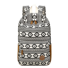 Fashion Geometric Design Women Canvas Backpack Female Vintage Printing Backpack Laptop School Back Bags for Teenagers Rucksack