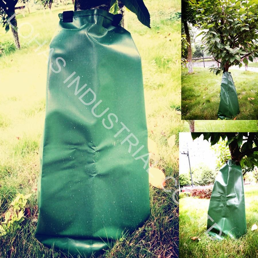 Фотография Tree Watering Bag green 500D PVC tarpaulin 20 Gallon Slow Release water bag big for Trees garden irrigation kit 2016