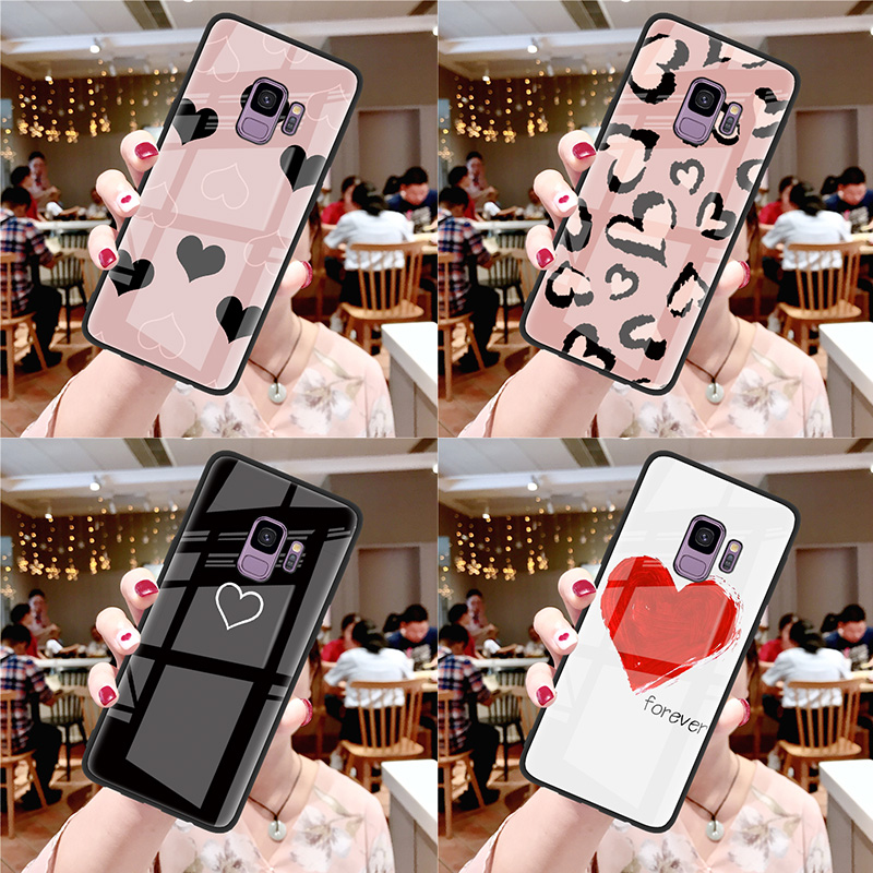 Tempered Glass Cases For <font><b>Samsung</b></font> Galaxy S10 Note 8 9 S9 S8 Plus S10e Capa J4 J8 A7 <font><b>A8</b></font> A6 Plus <font><b>2018</b></font> A50 M20 M10 J7 Prime A6s Case image