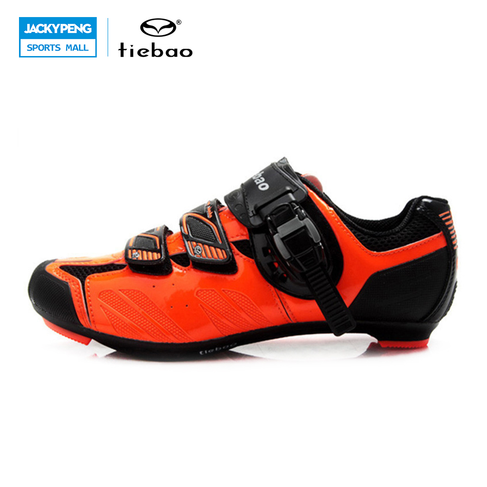 TIEBAO Road Cycling Shoes Autolock Cubre Zapatillas Clismo Neopreno Racing Cycling Light Shoes Men's-winter-sneakers tiebao tiebao b1285 recreational cycling shoes black green size 42