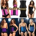 Men Womens Latex Rubber Waist Tummy Control Corset Bustiers Lady Neoprene Body Shapers Shapewear
