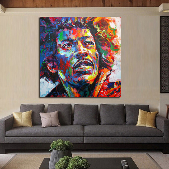 JQHYART Jimi Hendrix The Portraits Wall Pictures For Living Room Canvas Art  Home Decor Modern No