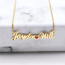 Fashion Jewelry Custom Name With Heart Necklaces Personalized Gold Plating Pendant Necklace
