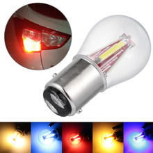 1 шт. автомобильная светодиодная лампа COB 4 COB Светодиодная нить 1157 BAY15D 21/5 Вт 1156 BA15S автомобильная лампа заднего хода стоп-светильник стоп-сигн...
