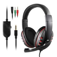 Fanshu Stereo Gaming Headset for Xbox one PS4 3.5mm Wired Over-Head Stereo Headphone with Mic Volume Control for PC Laptop sades sa 810 gaming headset 3 5mm wired stereo ear headphone with microphone for pc laptop ps4 xbox one game head phones