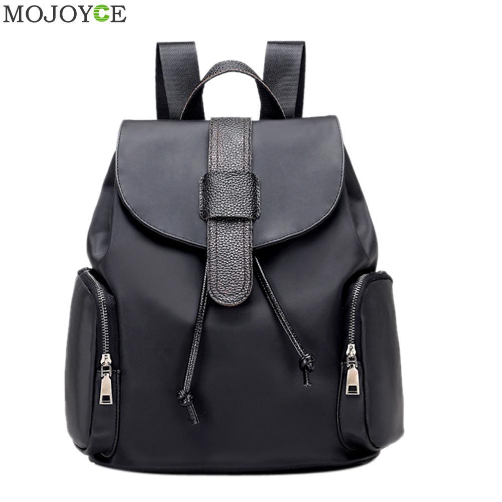 New Waterproof Nylon Backpack Women Fashion Travel School Backpack Men Women Mochila Black School Bags for Teenagers Rucksack