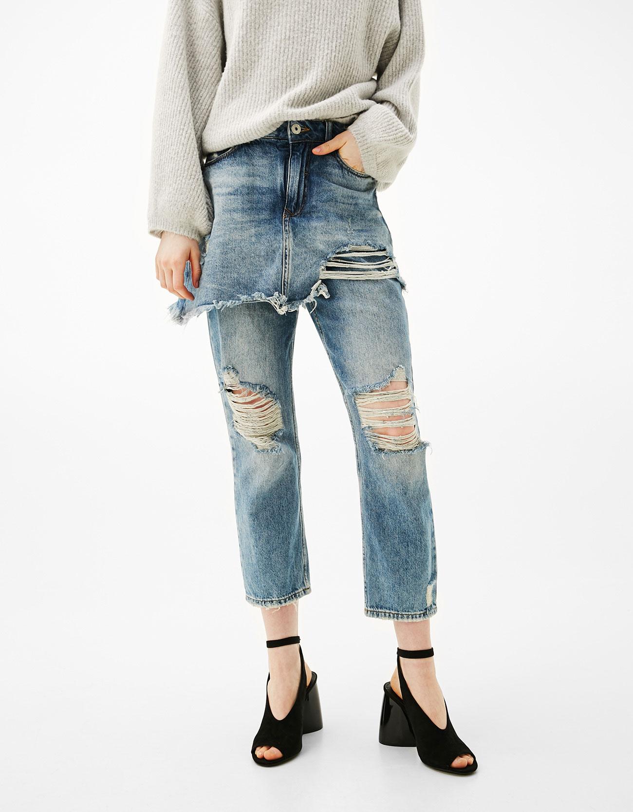 Women Pants 2017 Camouflage Jeans Mid Waist Pocket Zipper Crotch Pants American Apparel Jeans J7903