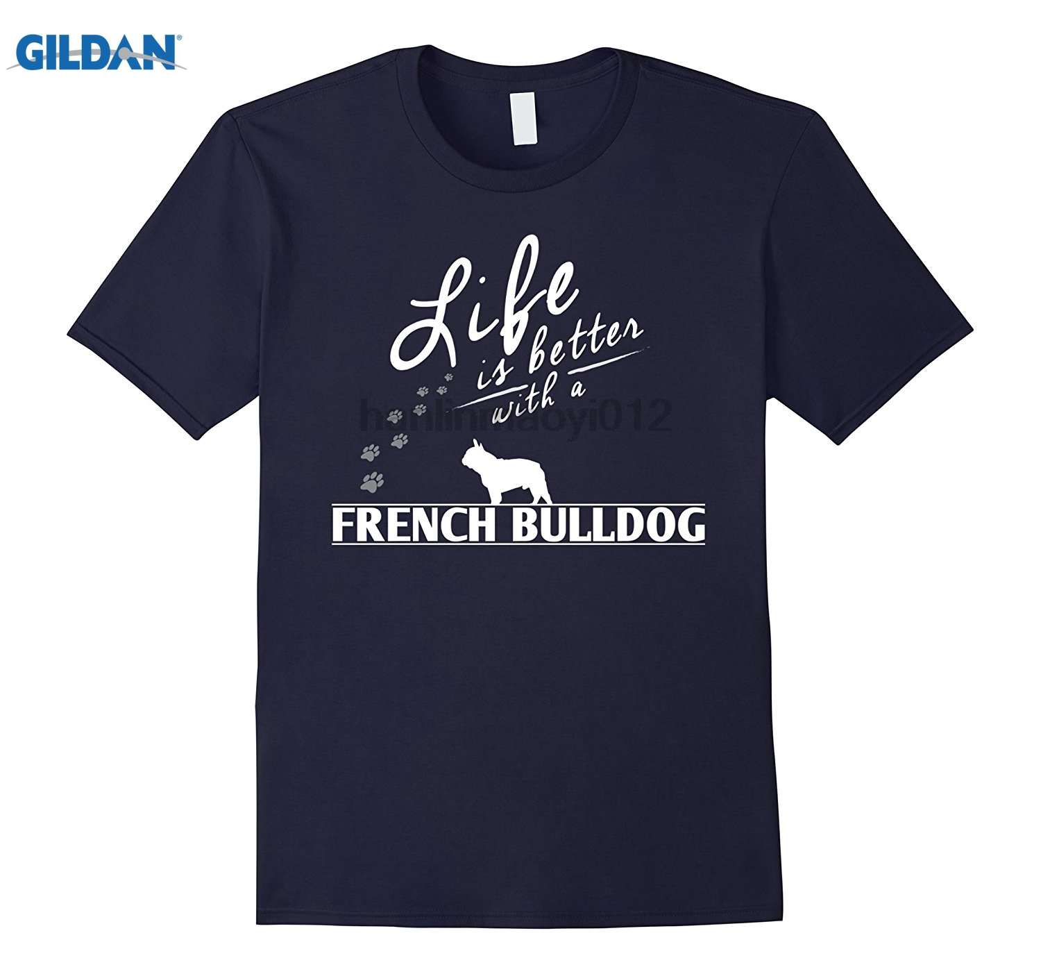 GILDAN Funny French Bulldog T Shirt Life Is Better With A French Adult T-shirt Pattern summer dress T-shirt