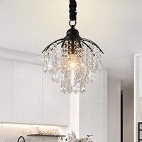 DX Modern Led Chandelier Living Room Lights Crystal Lighting Fixture Iron Lamp Luxury Luminaire White Warm Luster Black