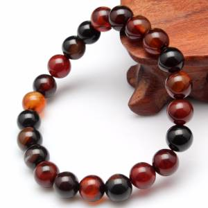 HAPROSE Natural Stone Round Agates Men Rosary Beads Prayer