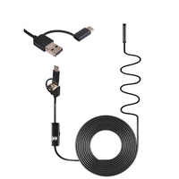 3 in 1 USB Endoscope Camera 7MM hard/soft 1/2/5M Cable IP67 Waterproof Snake Camera With 6 Led for Windows PC Android IOS