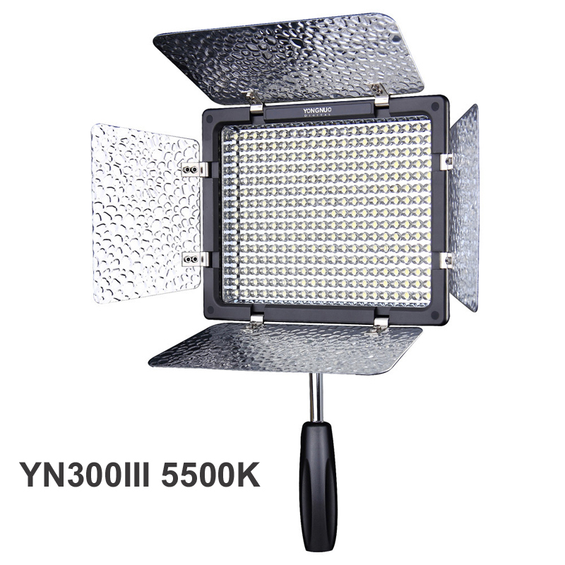 Yongnuo YN300 III YN-300 III 5500K CRI95+ Pro LED Video Light Photo Lighting with Remote Control for Canon Nikon Camera DSLR цена 2017