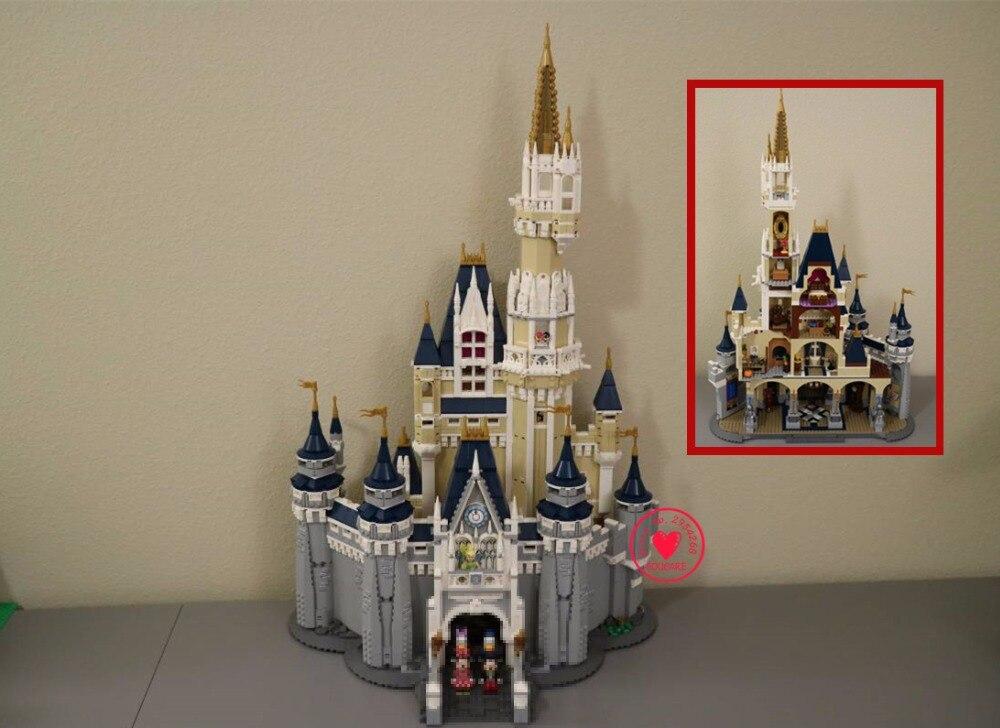 Новый Золушка Принцесса замок город 4080 шт. Совместимость Legoed 71040 Модель Building Block DIY игрушечные лошадки день рождения рождественские подарки