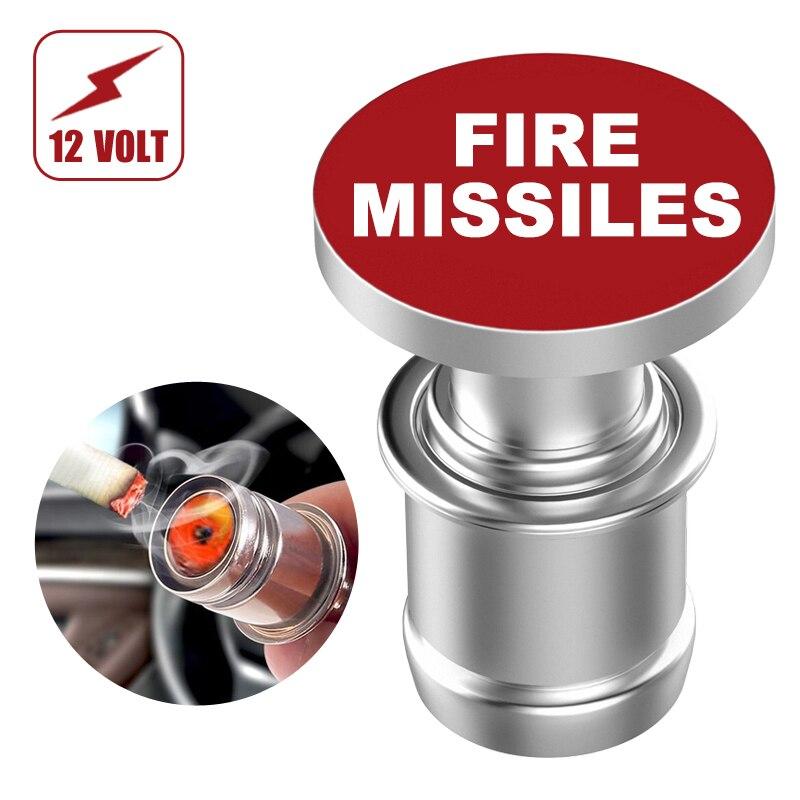 Voiture allume-cigare éjecter le remplacement du bouton de MISSILE de feu 12V accessoire bouton poussoir convient à la plupart des véhicules automobiles par citadelle