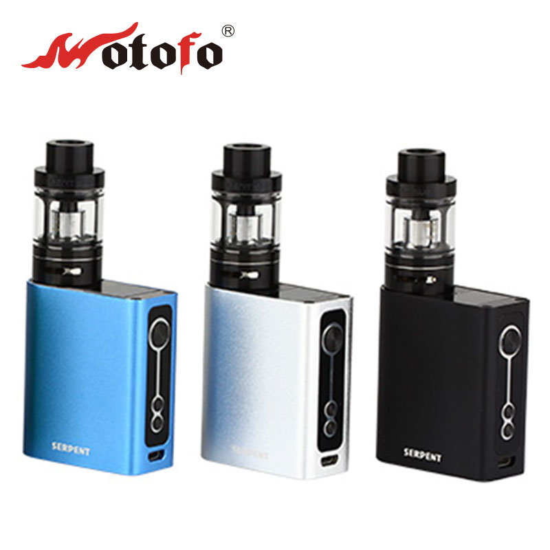 Original 50W WOTOFO Serpent TC Kit with Serpent 50W TC Box MOD Battery 2000mAh/ Serpent Sub 22 Tank 3.5ml Electronic Cig Kit