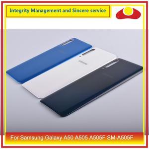 Image 2 - 10 pièces/lot pour Samsung Galaxy A50 A505 A505F SM A505F boîtier batterie porte arrière couvercle en verre boîtier châssis coque A50 2019