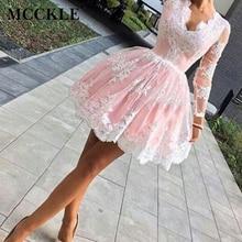 Mcckle женские летние dress вышивка лоскутное онлайн бальные платья кружева полный рукав v-образным вырезом женщина dress vestidos де verano 2017