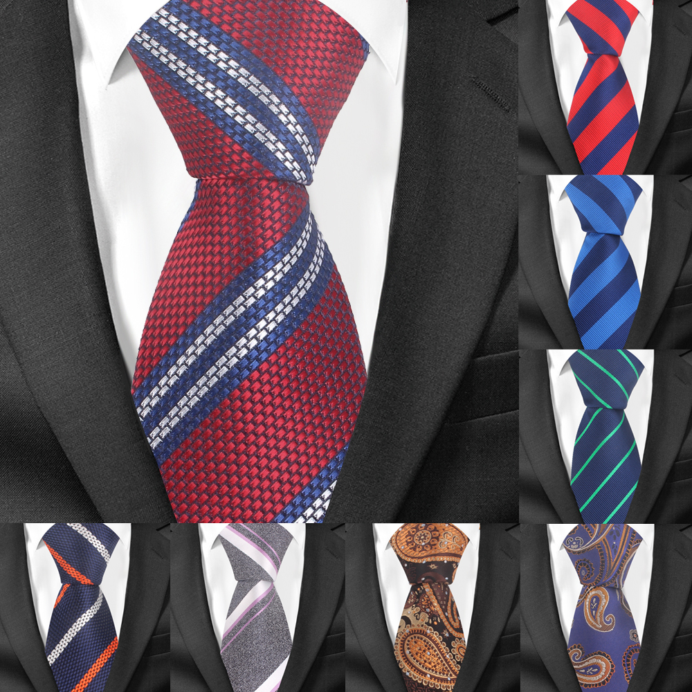 Fashion Striped Ties For Men Women Jacquard Floral Neck Tie For Wedding Business Suits Skinny Tie Slim Men Necktie Gravatas