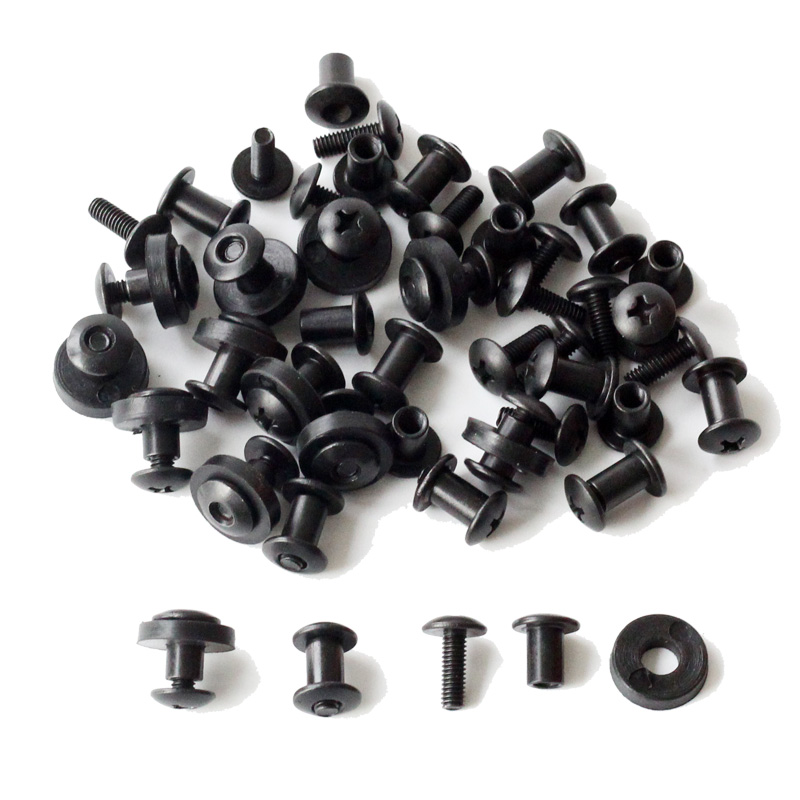 24pcs Tek lok screw set Chicago Screw comes with washer for DIY Kydex Sheath Hand Tool Parts