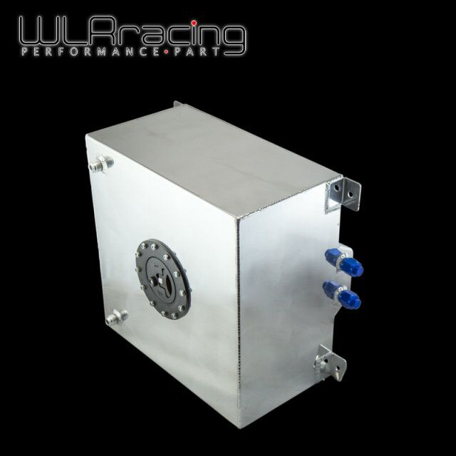 WLR RACING - 40L Aluminum Fuel Surge tank with cap/ foam inside mirror polished Fuel cell without sensor WLR-TK21 20l aluminum fuel surge tank with cap foam inside mirror polished fuel cell without sensor