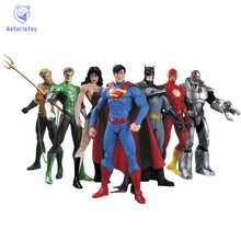 Avenger Super Hero Action Figure Marvel Figurine Super Man Batman Flash Wonder Woman DIY Anime Hero Model Toy Brinquedo 7pcs/set(China)