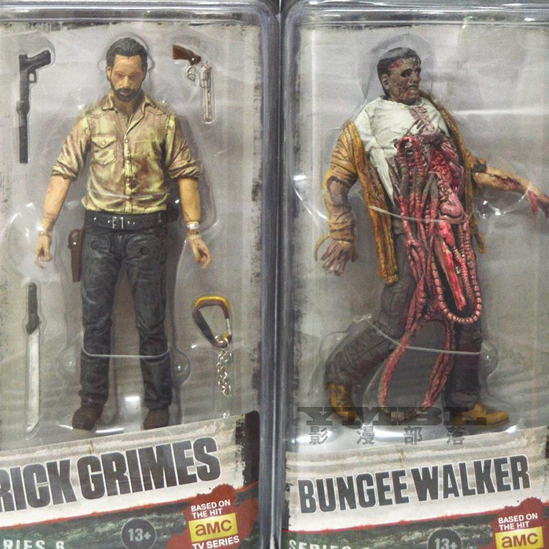 6inch Walking Dead Garage Kid Rick Grimes Andrew action figure toy 2017 New Resident Evil Zombie walking dead figura paty decor