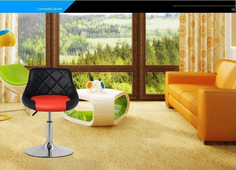 living room chair lifting household stool black white red color free shipping home chair luxury living room chair hotel presidential suite stool red green white color free shipping