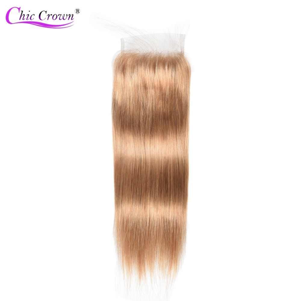 Цвет 27 пучков с закрытием медовые светлые пучки с бразильские волосы с закрытием плетение прямые человеческие волосы 3 дешевые пакеты