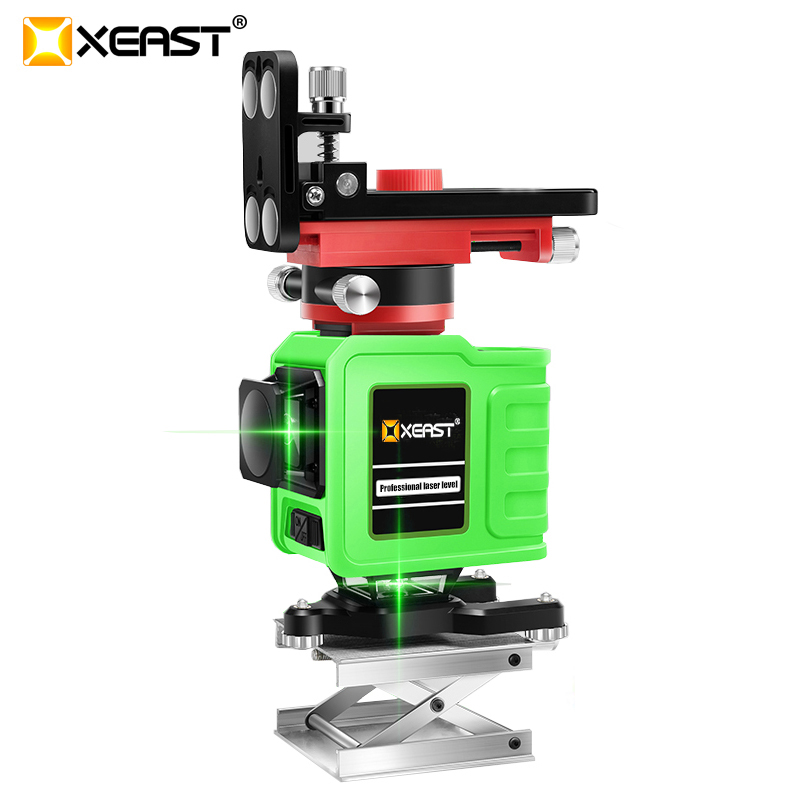 XEAST 3D XE 92G 12Lines Green Laser Levels Self Leveling 360 Horizontal And Vertical Cross Super