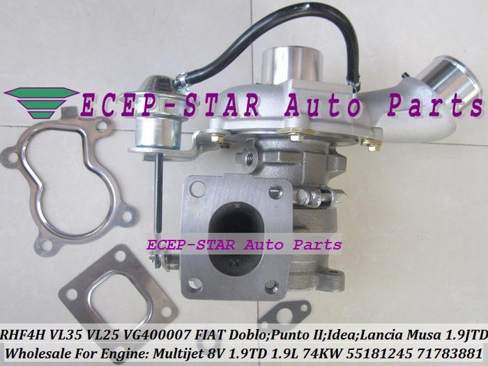 RHF4H VL35 55223446 55223928 VL25 VF400007 Turbo Турбокомпрессор для FIAT Doblo Punto 2 идея Lancia Musa 2003 1.9L JTD Multijet 8 В