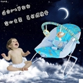 2017 Promotion Real Metal 0-12 Months Musical Brinquedos Baby Electric Smart Cradle Bed Shaking Wave Rocking Chair To Sleep
