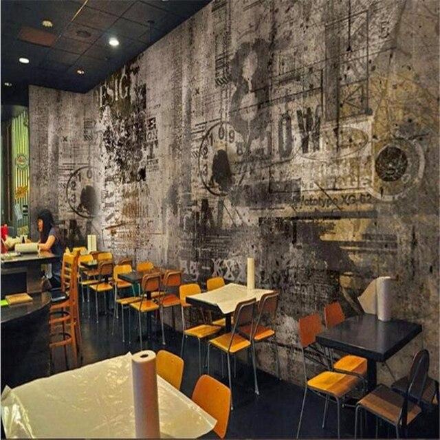 beibehang photo wallpaper Custom  Mural 3D Stereo Bar creative artistic graffiti nostalgia large mural Sofa Background Wallpaper