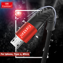Earldom Fishbone Micro USB Cable For Samsung Type C for Huawei Xiaomi Phone Data  Usb Iphone 6 7 XS