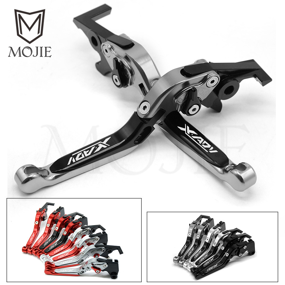 CNC Aluminum Moto Brake Clutch Levers For Honda X-ADV 750 XADV X ADV 750 2017 2018 Motorcycle Adjustable Brakes With XADV Logo aluminum motorcycle brake clutch levers for honda x adv 2017 2018 xadv 750 x adv brake lever clutch handle accessories