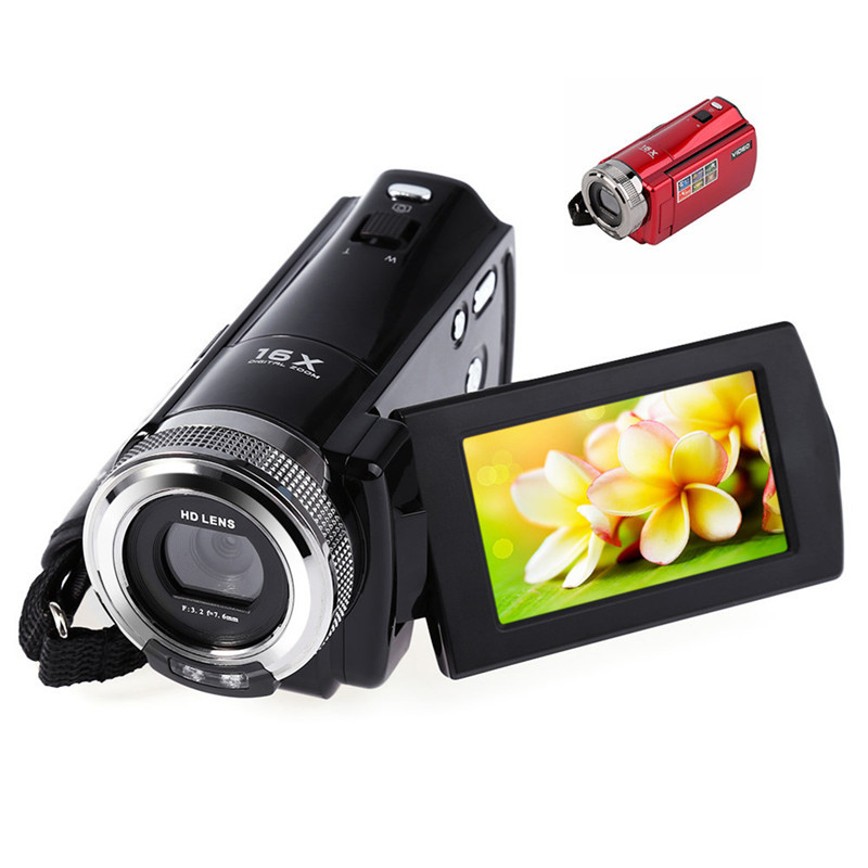Amkov 720P HD MINI DV Camera 16MP HD Digital Camera DV Video Camera HD 16X Digital Zoom AMK-DV163 hd mini dv camera black