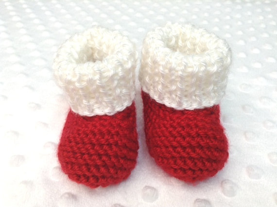 5a21de64709 Baby Newborn Santa Hat and Booties Set Baby s 1st Christmas Baby Santa  Outfit Newborn Santa Photo Prop-in Hats   Caps from Mother   Kids on  Aliexpress.com ...