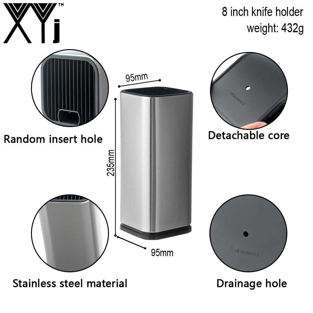 XYj 6 i 8 cali podwójny uchwyt na nóż kuchenny ze stali nierdzewnej zaoszczędź miejsce pomoc kuchenna elastyczne wielofunkcyjne akcesoria kuchenne