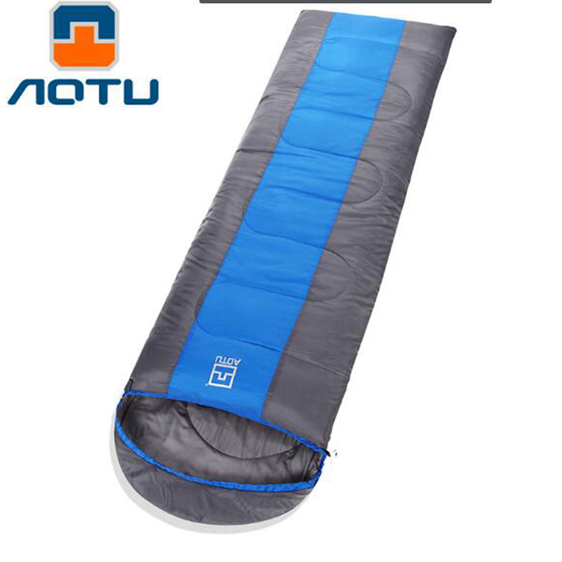 AOTU Outdoor Sleeping Bag Adult Thermal Autumn Winter Envelope Hooded Travel Camping Water Resistant Thick Sleeping Bag aotu outdoor sleeping bag adult thermal autumn winter envelope hooded travel camping water resistant thick sleeping bag