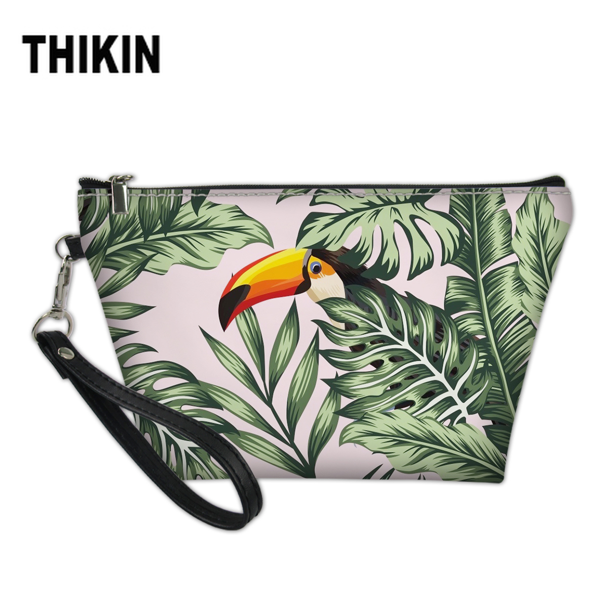 THIKIN Hot Summer Hawaii Plam Tree Printing Cosmetic Bag For Make Up Beauty Pouch Waterproof Makeup Suitcase Cosmetiquero Mujer