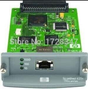 все цены на JetDirect 635N J7961G Free shipping 90% new original Ethernet Internal Print Server Network Card and DesignJet Plotter Printer онлайн