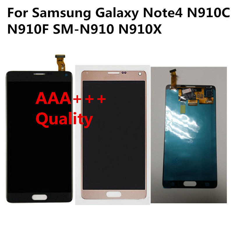 A+++ 5.7 Display For Samsung Galaxy Note4 N910C N910F SM-N910 N910X Screen for Note 4 IV Digitizer Assembly LCD Replacement DHL