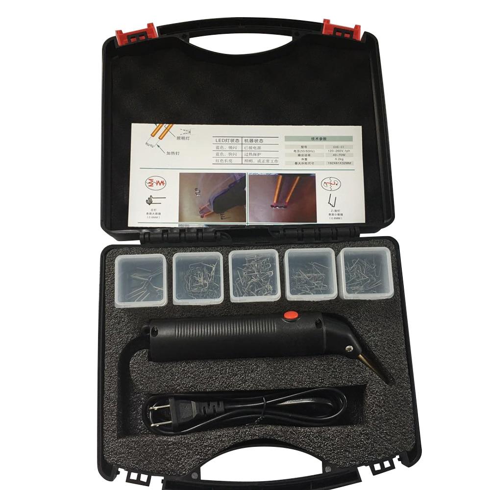 Professional Car Bumper Repair Machine Hot Stapler Plastic Repair System Welding Automobile Garage Repair Tool Kit Set With Case
