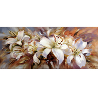 5D DIY Diamond Painting Needlework Flowers Full Square Drill Mosaic Diamond Embroidery Lily Art Pattern Decoration