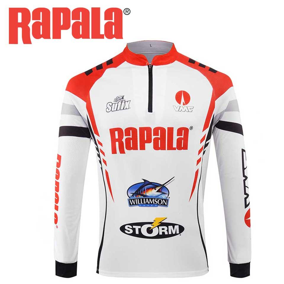 Original RAPALA Clothes Long Sleeve Quick-Drying Anti-UV Fishing Shirt