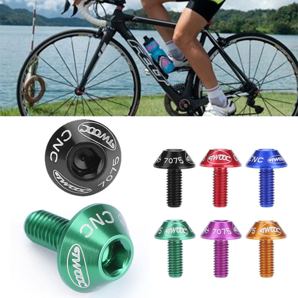 Bicycle Water <font><b>Bottle</b></font> <font><b>Cage</b></font> Holder Screw Bolts Durable Colorful <font><b>Bike</b></font> Accessory Install <font><b>Bike</b></font> <font><b>Bottle</b></font> <font><b>Cage</b></font> Rack 7 Colors cycling image