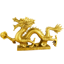 Feng shui Dragon Luck & Success / Shui Copper Statue Sculpture Chinese Power Symbol