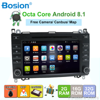 Android 8.1 2 Din WIFI Car DVD GPS Radio for Mercedes Benz B Class B200 A Class W169 W245 Viano Vito W639 Sprinter W906