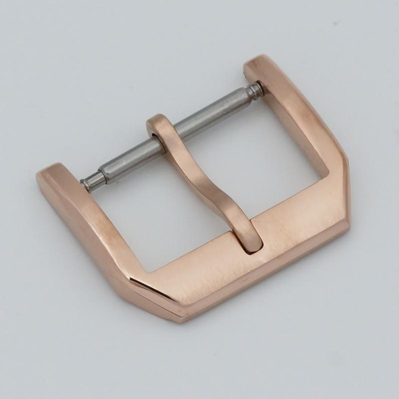MAIKES Nyt 18mm 20mm guldurspænde læderurbånd 316L rustfrit stål - Tilbehør til ure - Foto 5