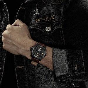 Image 5 - NAVIFORCE Herren Uhren Top Brand Luxus Sport Quarz Uhr Lederband Uhr Männer Wasserdichte Armbanduhr relogio masculino 9099